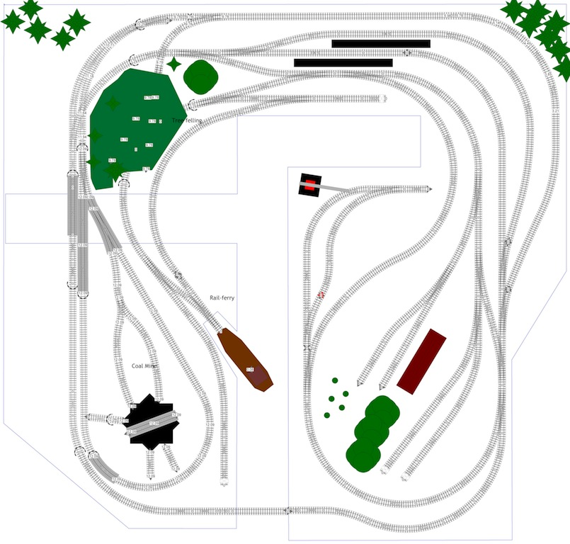 G scale layout plans model railroading for N scale bedroom layout